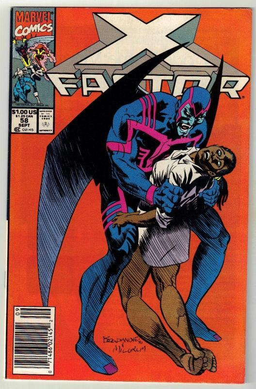 X-Factor #58 comic book near mint 9.4