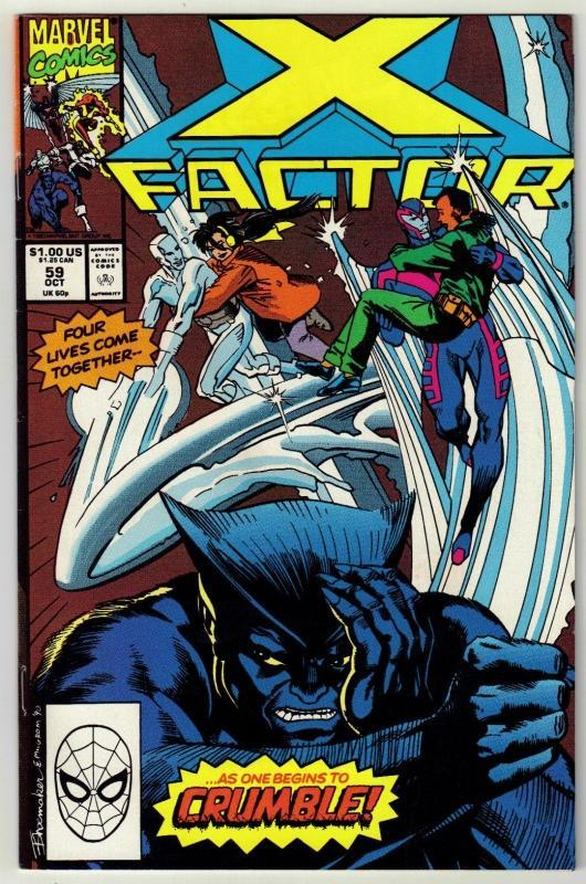 X-Factor #59 comic book near mint 9.4