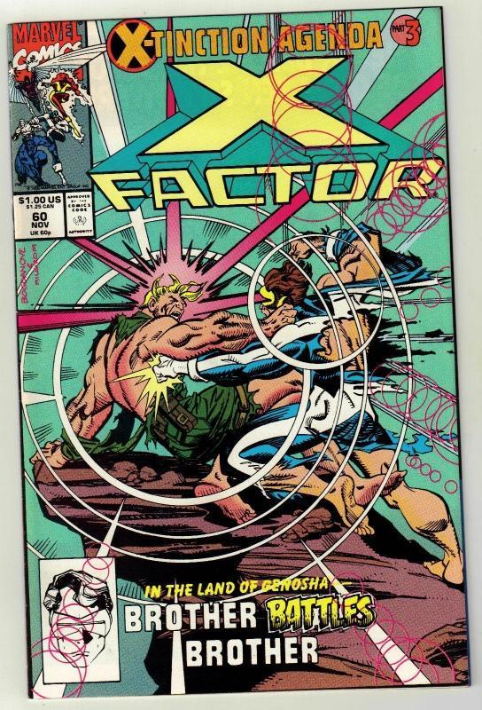 X-Factor #60 comic book near mint 9.4