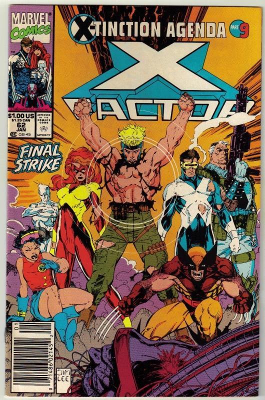 X-Factor #62 comic book near mint 9.4
