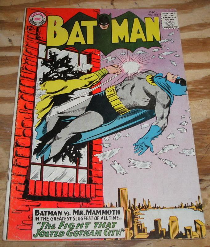 Batman #168 comic book fine 6.0