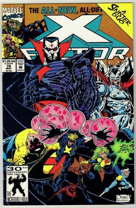 X-Factor #78 comic book near mint 9.4
