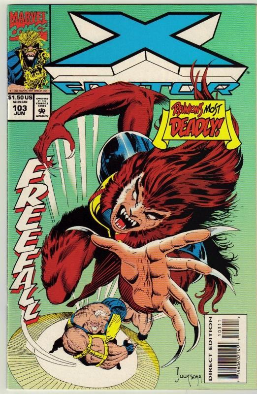 X-Factor #103 comic book near mint 9.4