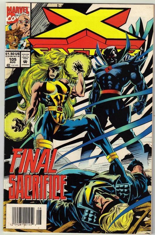 X-Factor #105 comic book near mint 9.4