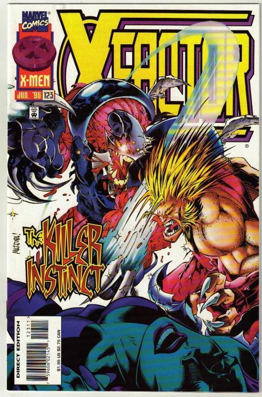 X-Factor #123 comic book near mint 9.4