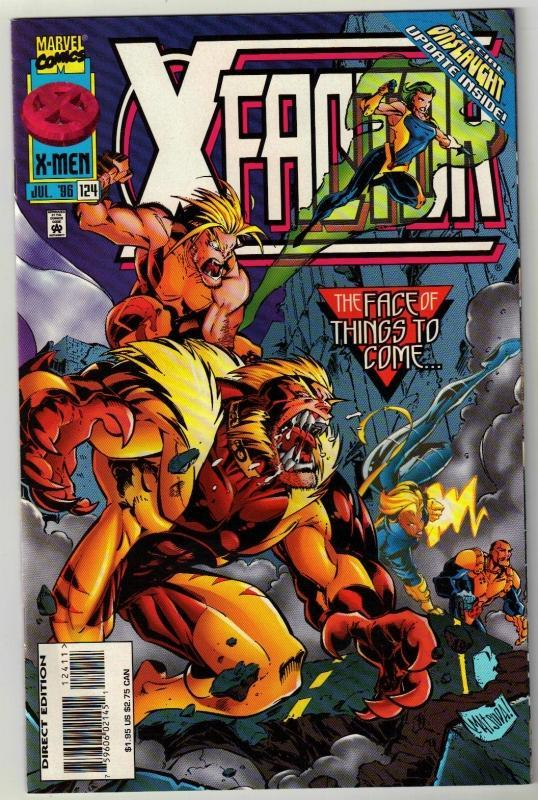 X-Factor #124 comic book near mint 9.4