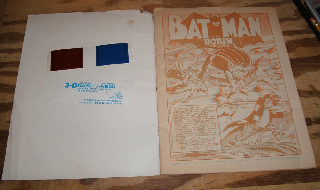 3-D 1953 Batman comic book very good 4.0