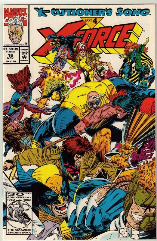 X-Force #16 comic book near mint 9.4