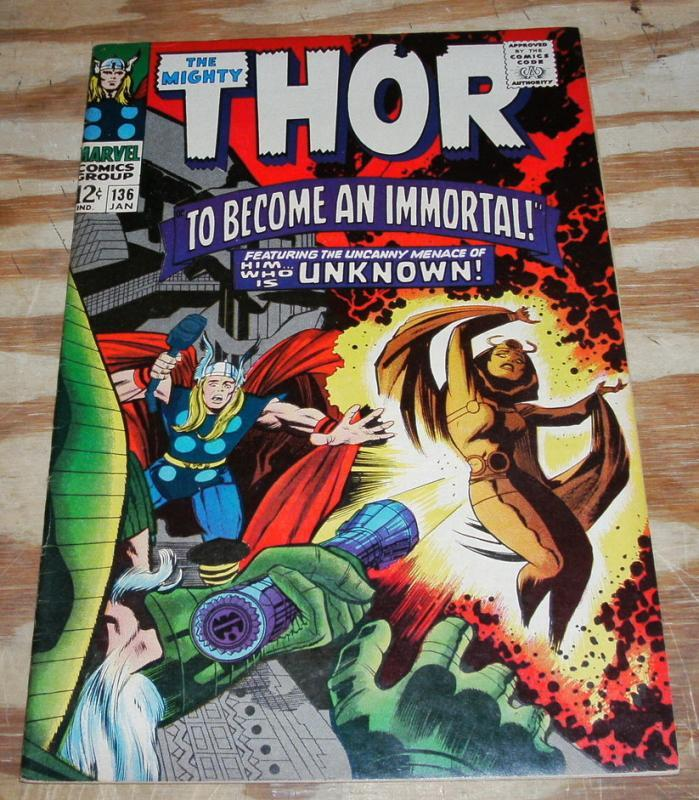 The Mighty Thor #136 comic book very fine 8.0