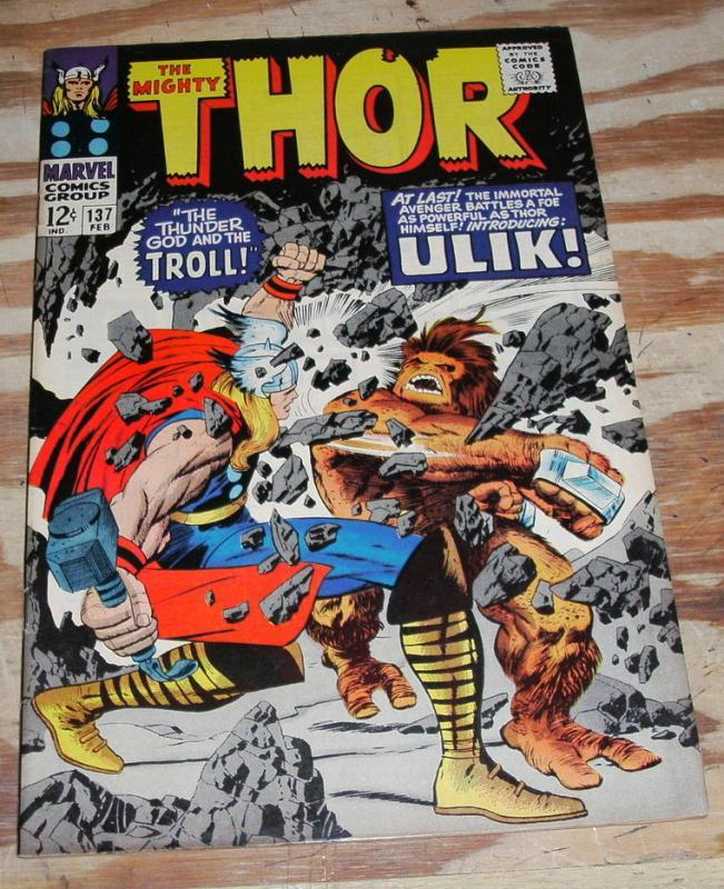 The Mighty Thor #137 comic book very fine 8.0