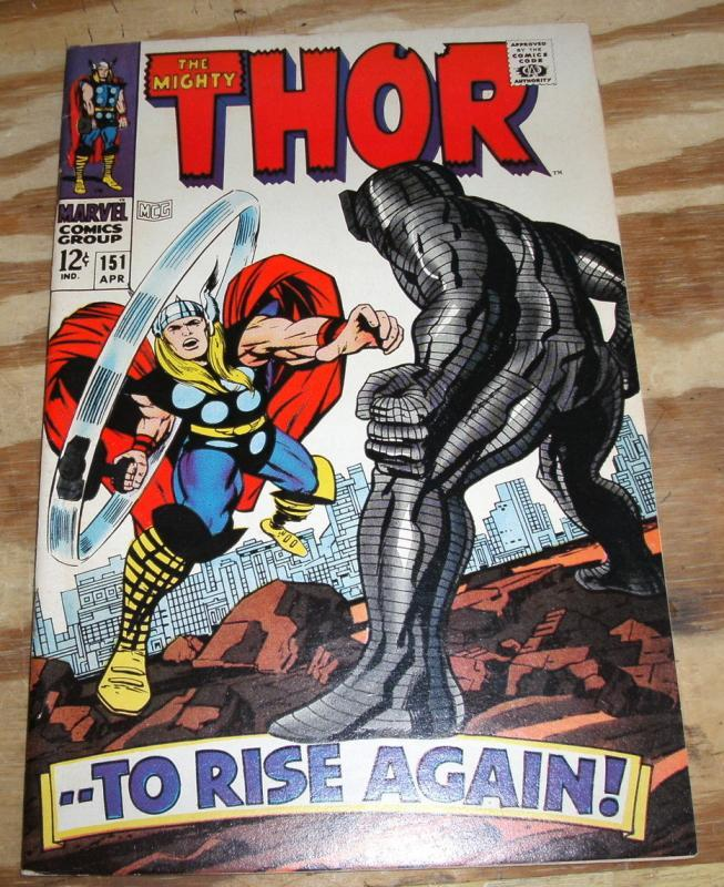 The Mighty Thor #151 comic book very fine/near mint 9.0