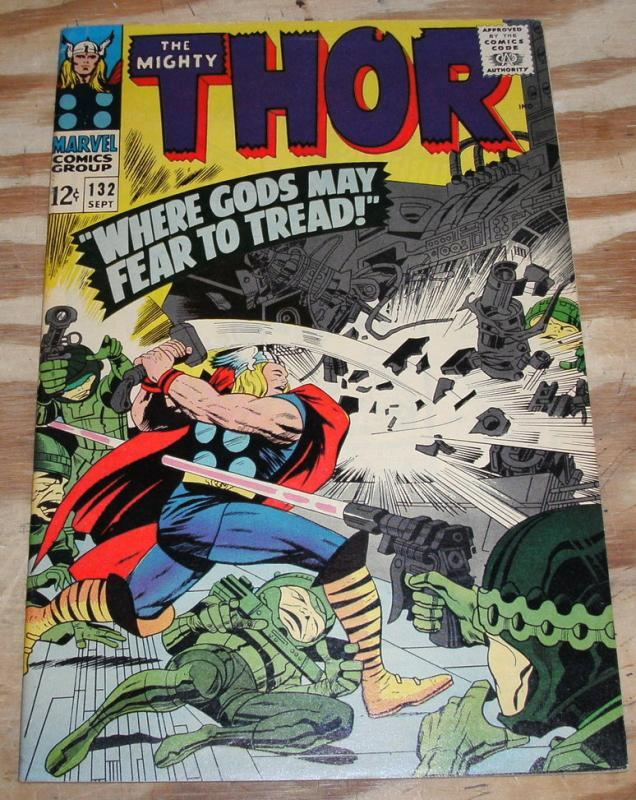 The Mighty Thor #132 comic book very fine 8.0