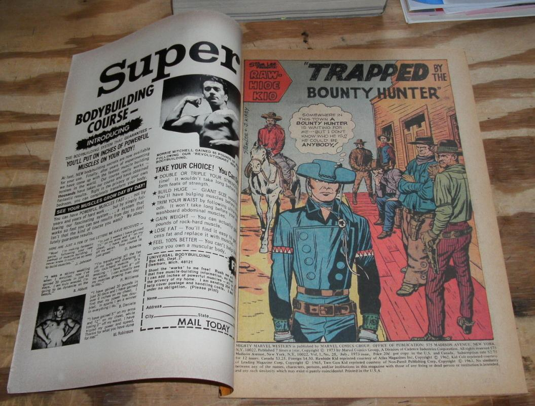 Mighty Marvel Western #25 comic book very fine 8.0
