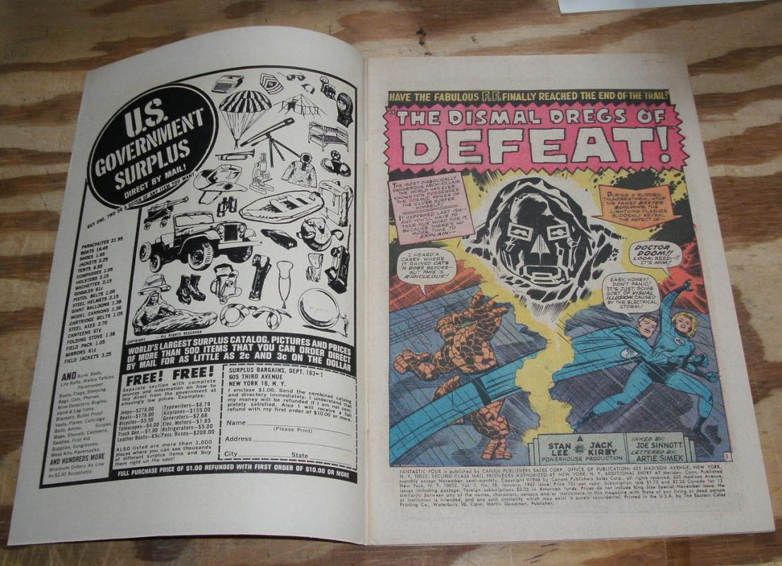Fantastic Four #58 comic book very fine 8.0