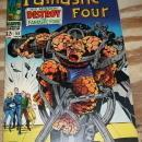 Fantastic Four #68 comic book very fine 8.0 but mvs stamp clipped