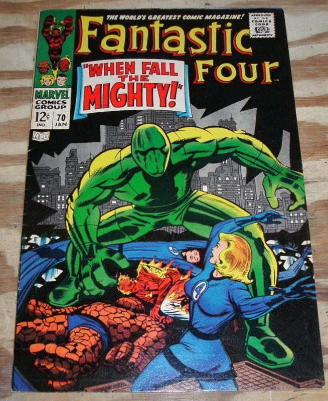 Fantastic Four #70 comic book very fine 8.0 but mvs stamp clipped