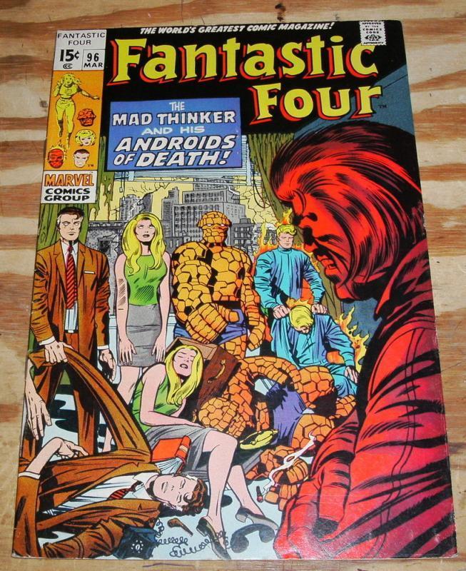 Fantastic Four #96 comic book very fine 8.0