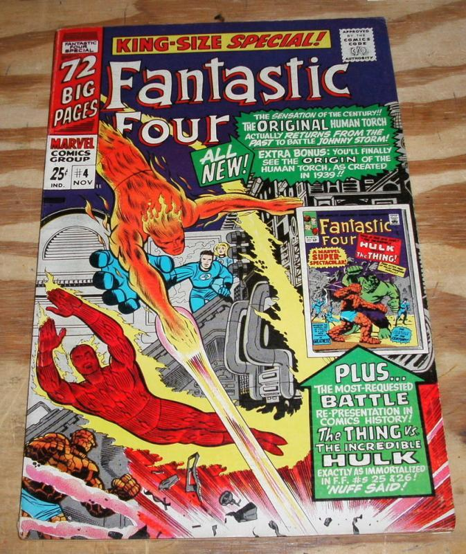 Fantastic Four Special #4 (annual) comic book very fine 8.0