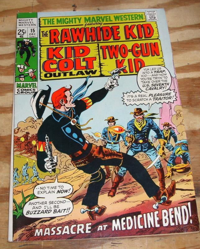Mighty Marvel Western #15 comic book very good/fine 5.0
