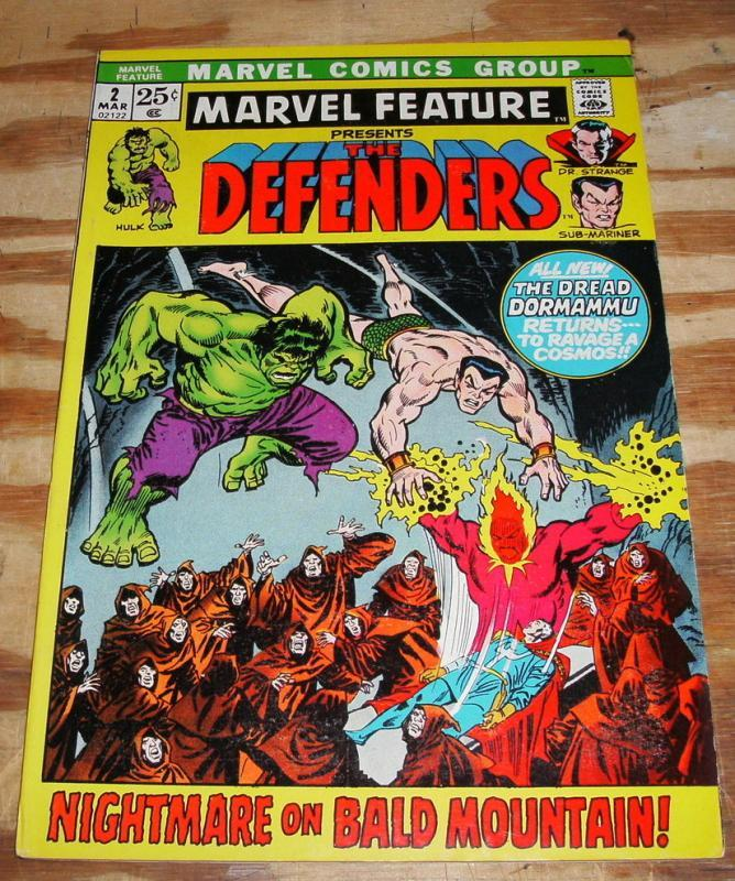 Marvel Feature #2 comic vf 8.0 (Defenders)