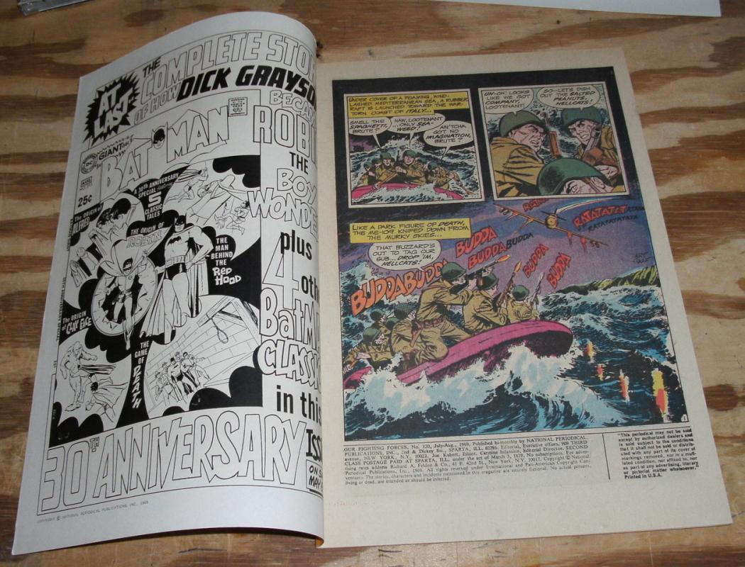 Our Fighting Forces #120 comic very fine 8.0