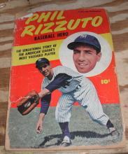 Phil Rizzuto Baseball Hero comic book poor 1.0
