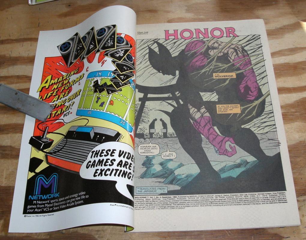 Wolverine limited series #4 near mint plus 9.6