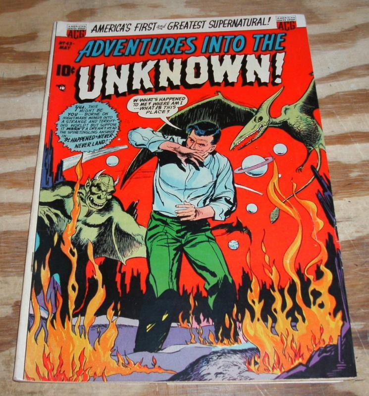 Adventures Into the Unknown #43 comic fn/vf 7.0