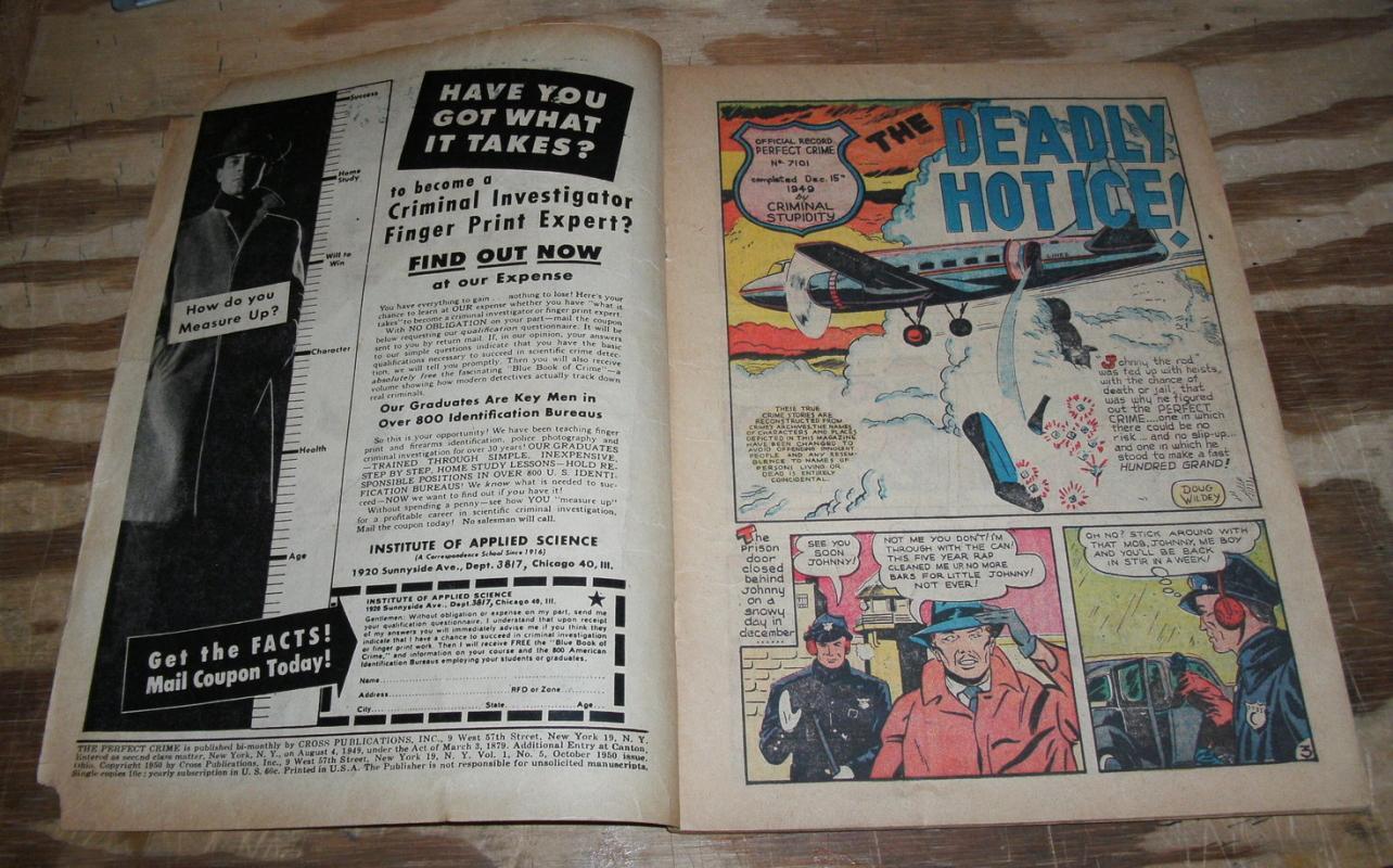 Perfect Crime #5 comic g/vg 3.0