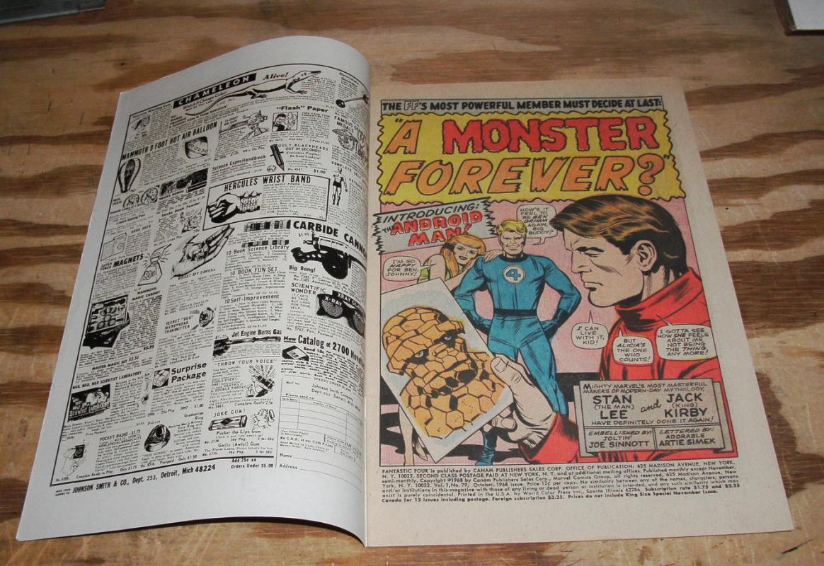 Fantastic Four #79 comic book fine/very fine 7.0