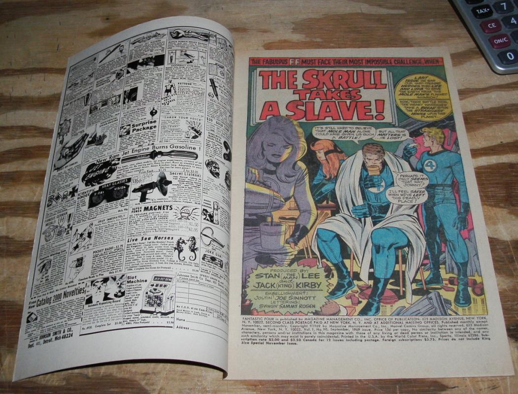Fantastic Four #90 comic book very fine + 8.5