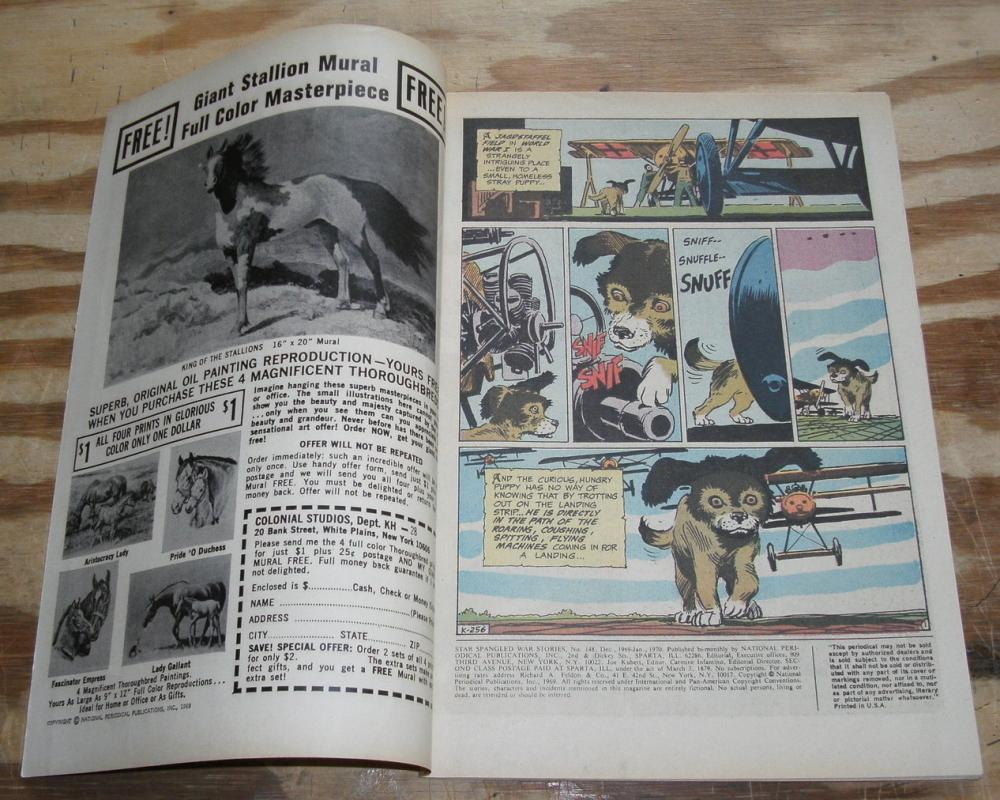 Star Spangled War Stories presents Enemy Ace #148 comic book very fine 8.0