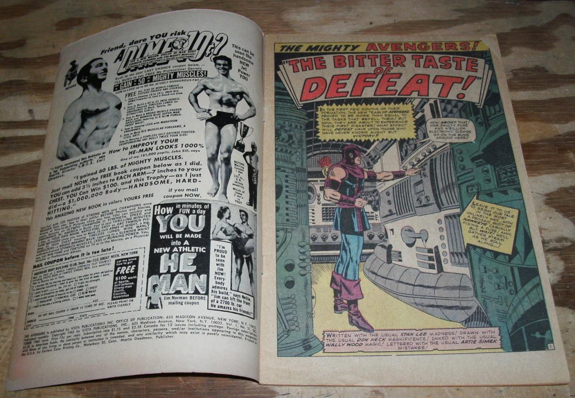The Avengers #21 comic book vg/fn 5.0