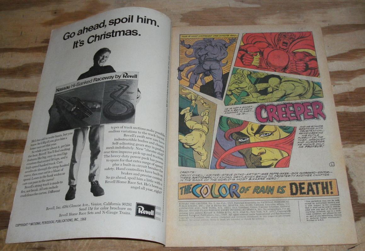 Beware the Creeper comic #5 vf  8.0