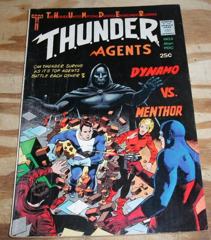 T.H.U.N.D.E.R. Agents #3 comic book fn/vf 7.0