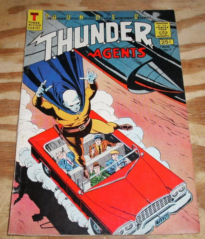 T.H.U.N.D.E.R. Agents #7 comic book  fn/vf 7.0