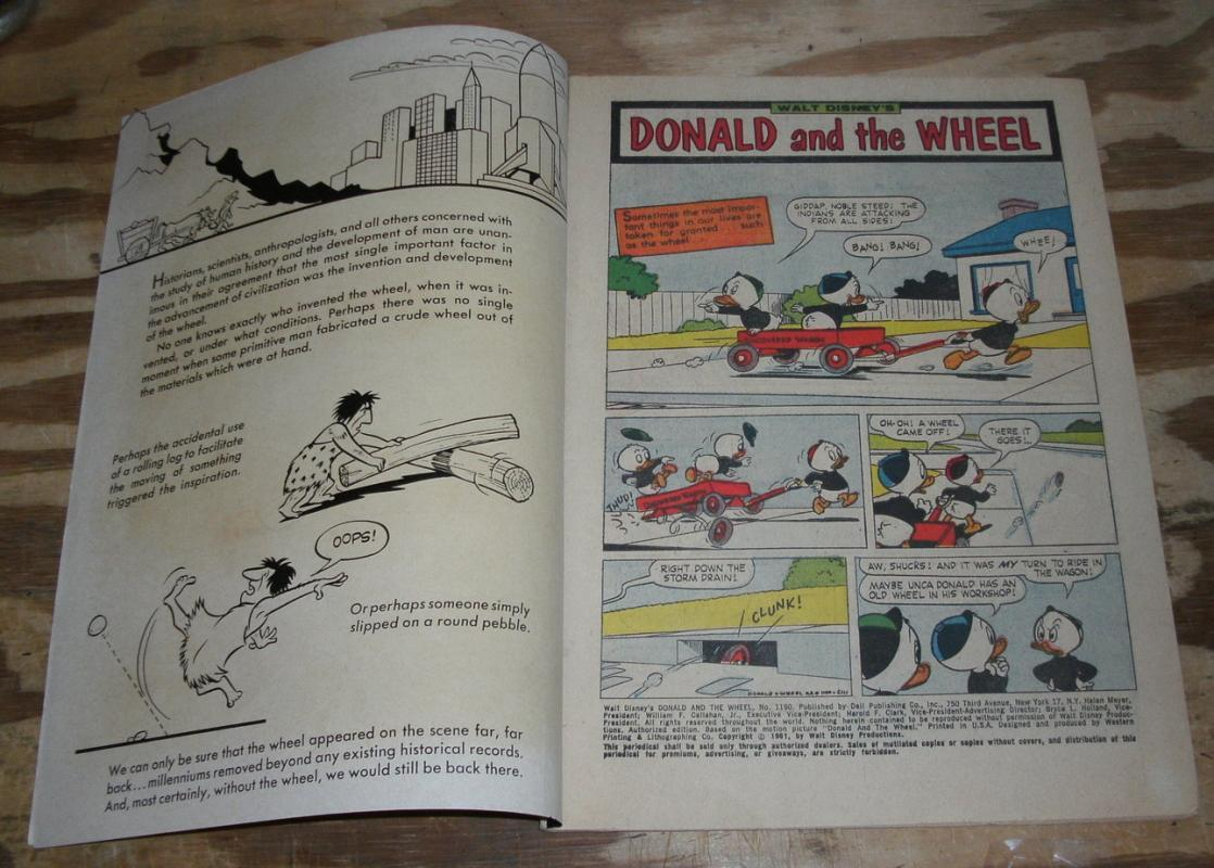 Donald and the Wheel comic (Donald Duck) fn 6.0