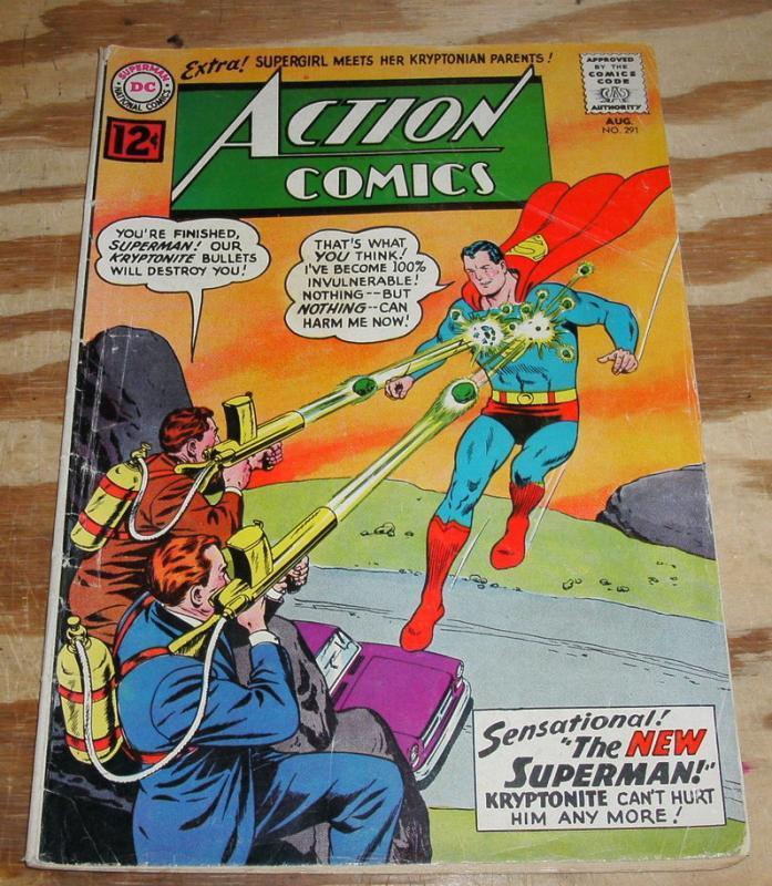 Action Comics #291 comic book vg 4.0