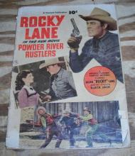 Rocky Lane in Powder River Rustlers movie comic book  g 2.0