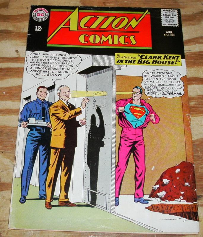 Action Comics #323 comic book vg/fn 5.0