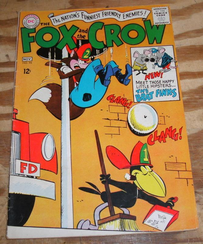 Fox and the Crow #94 comic book fn/vf 7.0