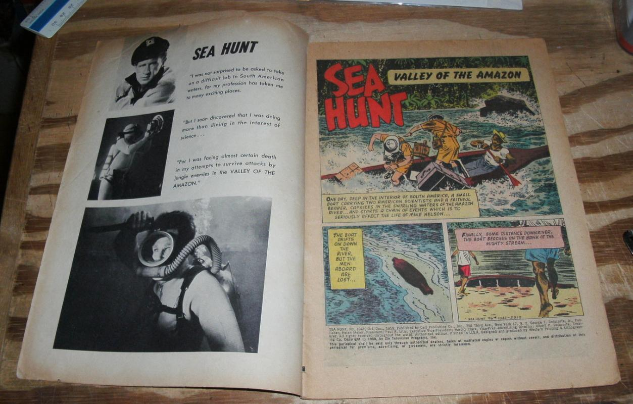 Sea Hunt #1041  comic book very good 4.0