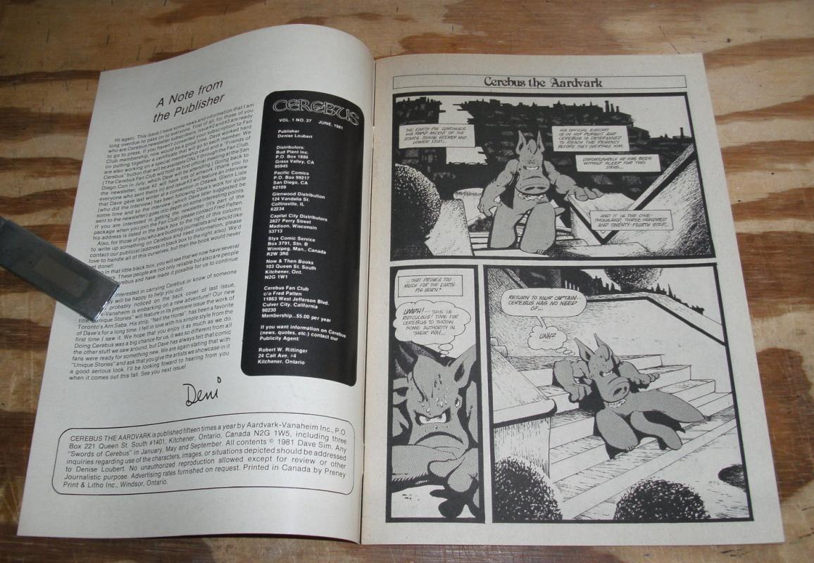Cerebus #27 comic book very fine/near mint 9.0