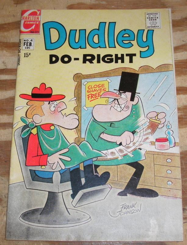Dudley Do-Right #4 comic book vg/fn 5.0