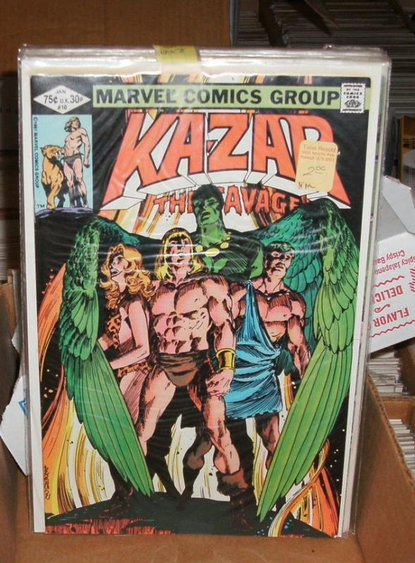 Kazar the Savage 8 issue assortment of comic books
