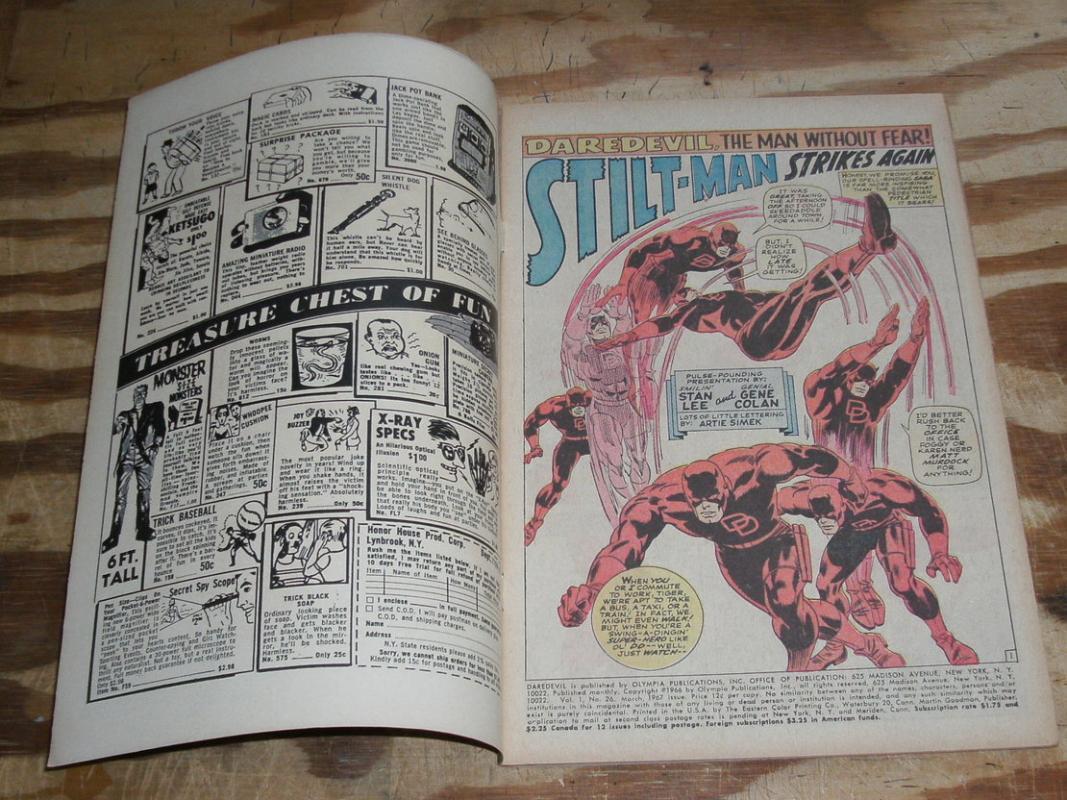 Daredevil #26 comic book very fine 8.0