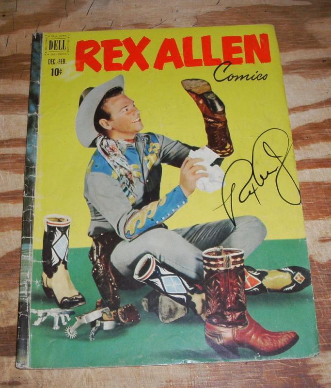 Rex Allen #3 comic book g/vg autographed