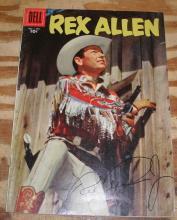 Rex Allen #23 comic book fn/vf 7.0 autographed