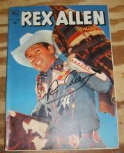 Rex Allen #5 comic book fine 6.0  autographed