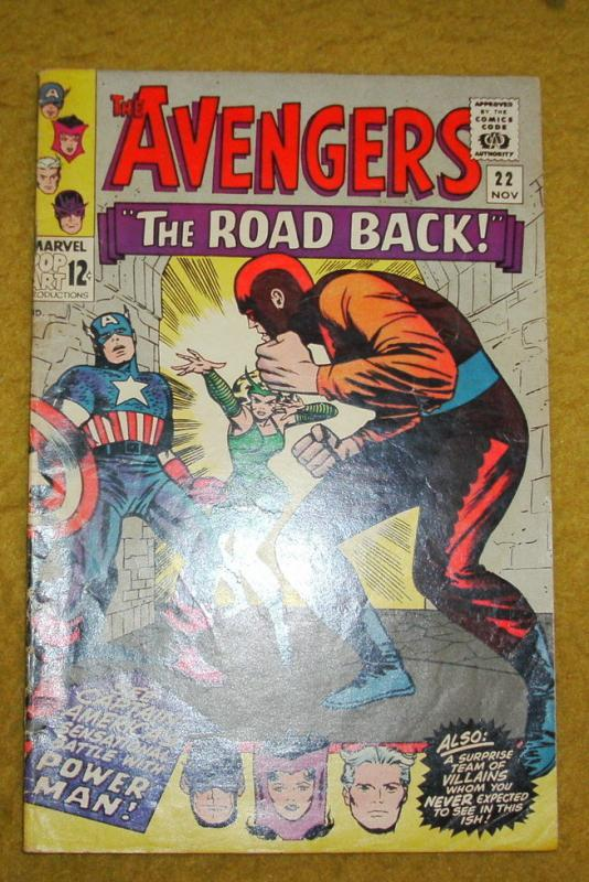 Avengers #22 comic book very good/fine 5.0